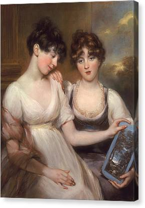 Portrait Of Anne And Maria Russell Canvas Print by John Russell