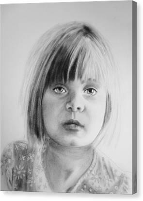Portrait Of Charlotte Canvas Print by Sandrine Pelissier