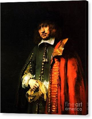 Portrait Of Jan Six Canvas Print by Pg Reproductions