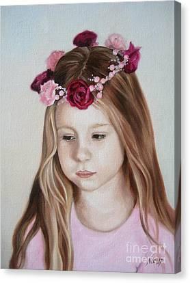Portrait Of Kristinka Canvas Print by Jindra Noewi