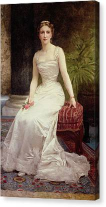 Portrait Of Madame Olry-roederer Canvas Print by William-Adolphe Bouguereau