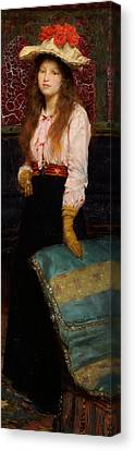 Portrait Of Miss Macwirter Canvas Print by Sir Lawrence Alma-Tadema