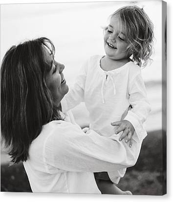 Portrait Of Mother And Daughter Canvas Print by Michelle Quance
