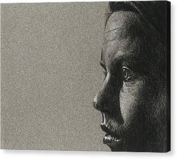 Portrait Of S Canvas Print by David Kleinsasser