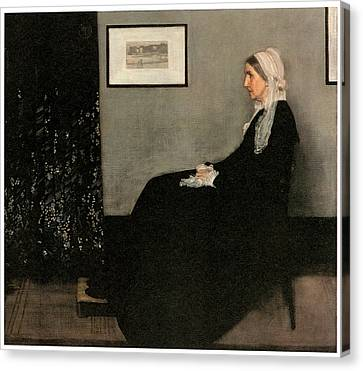 Portrait Of The Artist's Mother Canvas Print by James Abbott McNeill Whistler