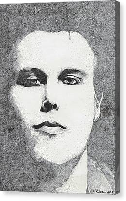 Portrait Of Ville Valo Canvas Print by Alice Rotaru