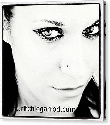 Portraits Canvas Print - #portrait #photoshoot #bnw #headshot by Ritchie Garrod