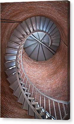 Portsmouth Harbor Lighthouse Stairwell Canvas Print by Robert Clifford