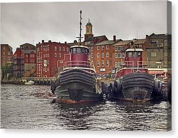 Portsmouth Tugs Canvas Print by Joann Vitali
