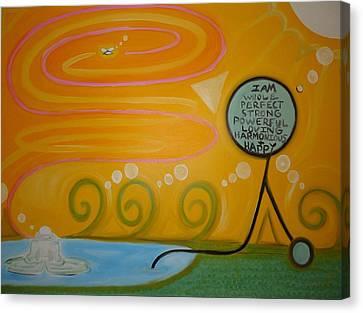 Positive Pondering Canvas Print