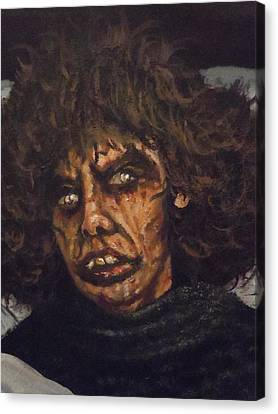 Canvas Print featuring the painting Possessed Wife by James Guentner