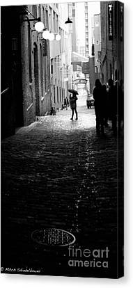 Canvas Print featuring the photograph Post Alley by Mitch Shindelbower