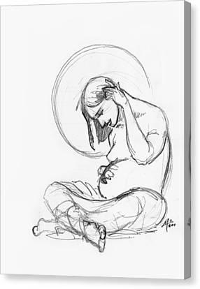 Post Annunciation Canvas Print by Miguel De Angel