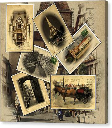 Postcards From Europe Canvas Print by Cecil Fuselier