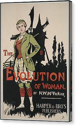 Poster Advertising The Evolution Of Canvas Print by Everett