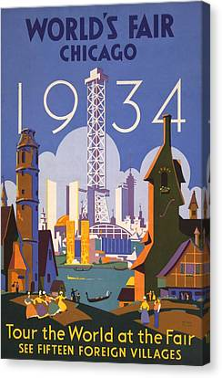 Poster For The 1934 Chicago Worlds Fair Canvas Print by Everett