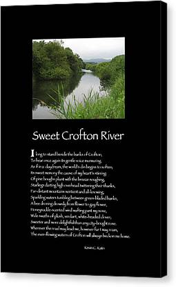 Poster Poem - Sweet Crofton River Canvas Print by Poetic Expressions