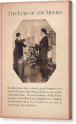 Poster Showing Disabled Man Working Canvas Print by Everett