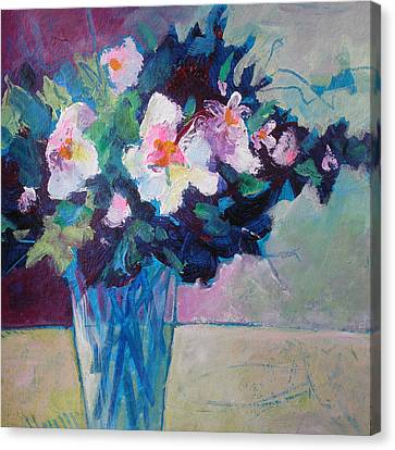 Posy In Magenta And Blue Canvas Print by Susanne Clark