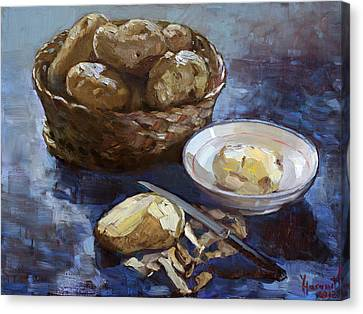 Potatoes Canvas Print by Ylli Haruni