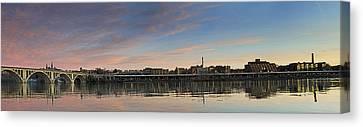 Potomac River Panorama - Washington Dc Canvas Print by Brendan Reals