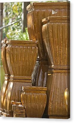 Ceramic Glazes Canvas Print - Pots Of Gold 2 by Teresa Mucha