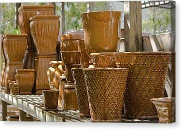 Ceramic Glazes Canvas Print - Pots Of Gold by Teresa Mucha