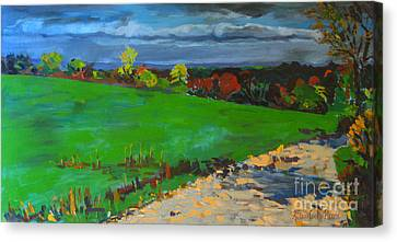 Potter Hill Meadows Canvas Print by Allison Coelho Picone