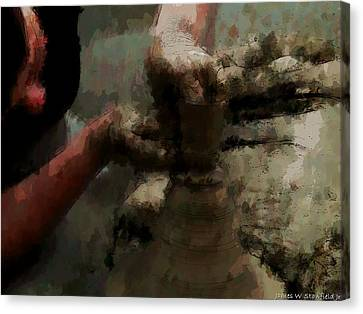 Potter In Expressionism Style Canvas Print