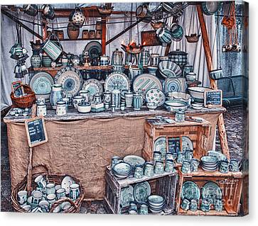 Pottery Market Canvas Print by Jutta Maria Pusl