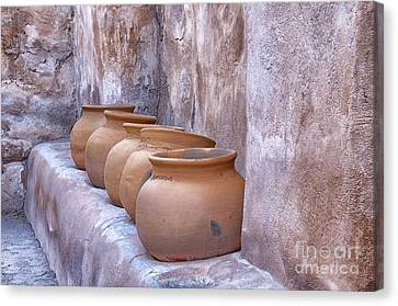 Pottery Of The Past Canvas Print by Sandra Bronstein