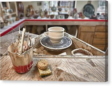 Pottery Studio Hockinson Washington Usa Canvas Print by Bryan Mullennix
