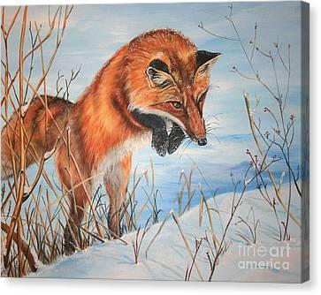 Pounce Canvas Print by Darlene Watters