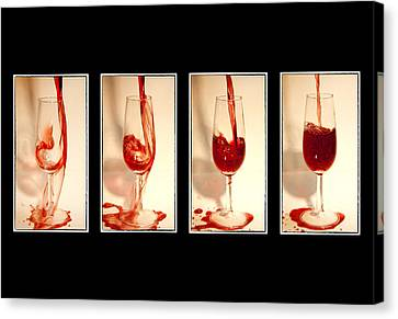 Pouring Wine Canvas Print - Pouring Red Wine by Svetlana Sewell