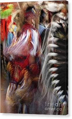 Pow Wow Dancer Canvas Print by Vivian Christopher
