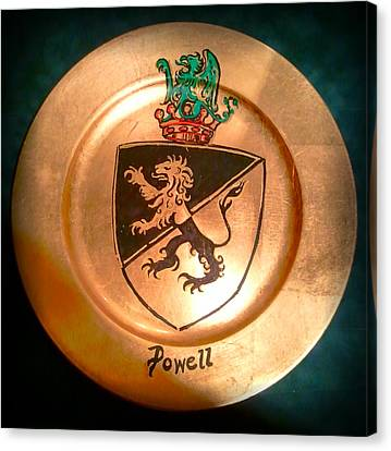 Family Crest Canvas Print - Powell Charger by Nancy Rutland