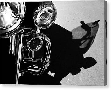 Power Shadow - Harley Davidson Road King Canvas Print by Steven Milner