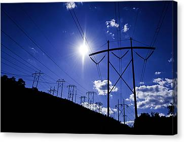 Power Supply Canvas Print by Andrew Kubica