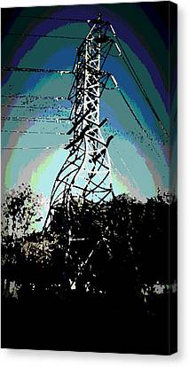 Power Tower Melting Canvas Print by David Alvarez