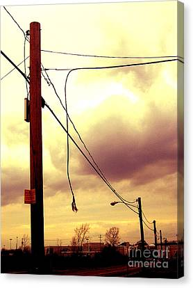 Powerline Canvas Print by Silvie Kendall