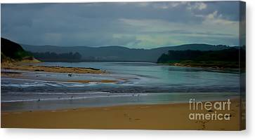 Powlett River Inlet On A Stormy Morning Canvas Print by Blair Stuart