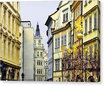 Steeple Canvas Print - Prague - Walking In The Footsteps Of Kings by Christine Till