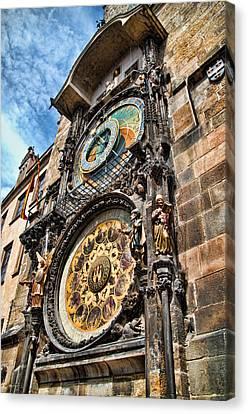 Prague Astronomical Clock Canvas Print by Jon Berghoff