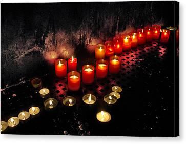 Prague Church Candles Canvas Print by Stelios Kleanthous
