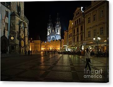 Prague City Square Canvas Print