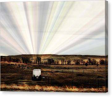Canvas Print featuring the photograph Prairie by Clarice  Lakota