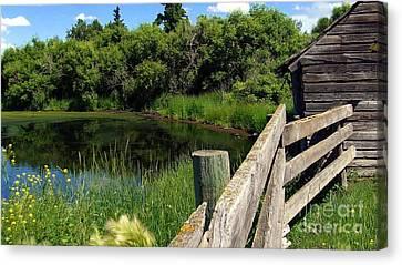 Canvas Print featuring the photograph Prairie Pond by Jim Sauchyn