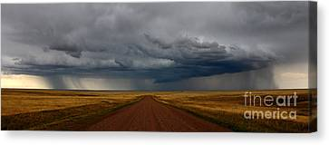 Prairie Storm In Canada Canvas Print