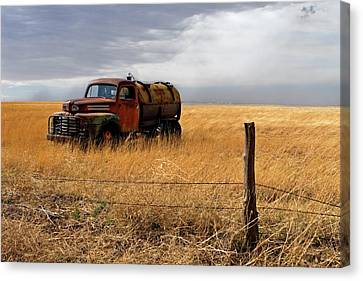 Old Trucks Canvas Print - Prarie Truck by Peter Tellone