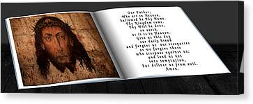 Prayer Book Canvas Print by Cecil Fuselier